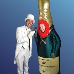 champagnefles boeken